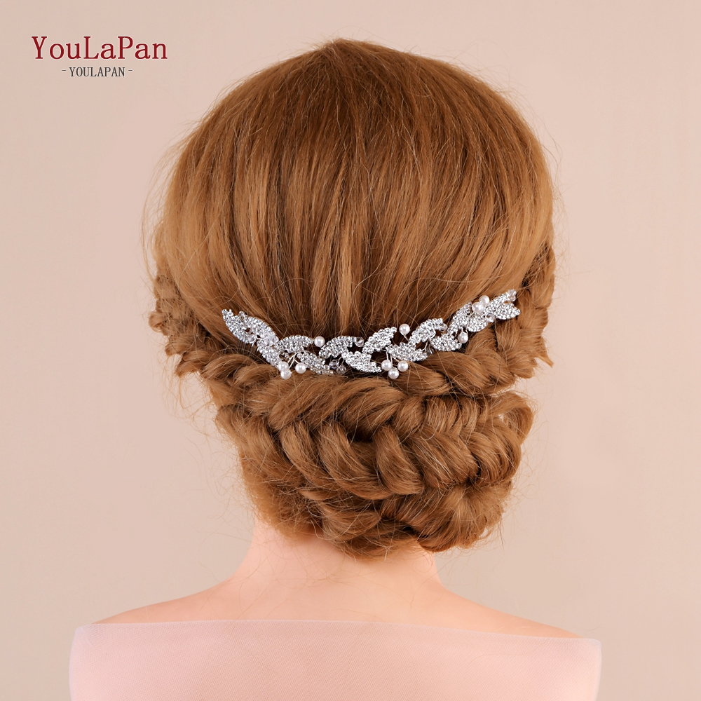YouLaPan Wedding Hair Comb Bridal Headpiece For Wedding Comb Headband Bridal Hair Comb In Silver Rhinestone Hair Comb HP251