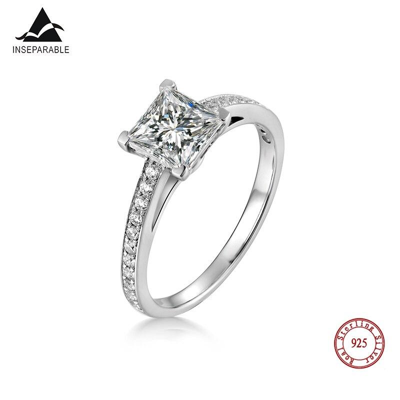 Hochzeits- & Verlobungs-schmuck Untrennbar Mode S925 Sterling Silber Ring Cubic Zirkon Hochzeit Schmuck Ringe Engagement Für Frauen Geschenk Senility VerzöGern