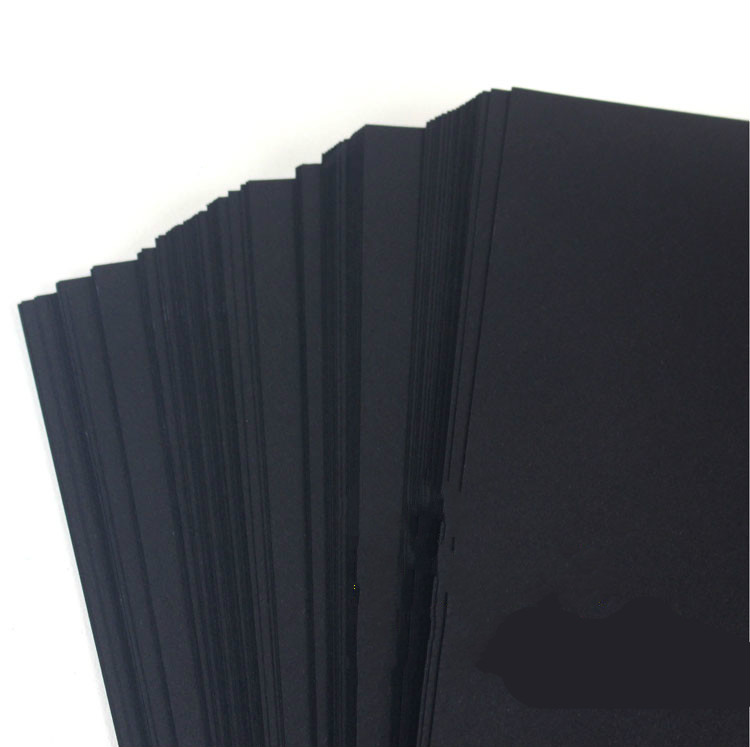 Multi-purpose A3 / A4 Black Card Paper High Quality Children Manual Paper DIY Scrapbook Paper Gift Packing Paper