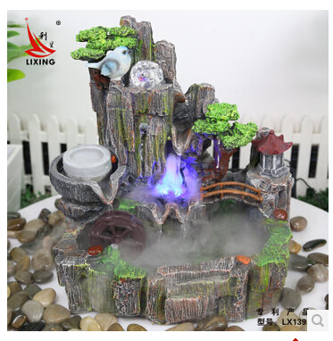 Feng shui ball rockery water fountain decoration watertruck bonsai humidifier features fish tank crafts - Bl & Hi store