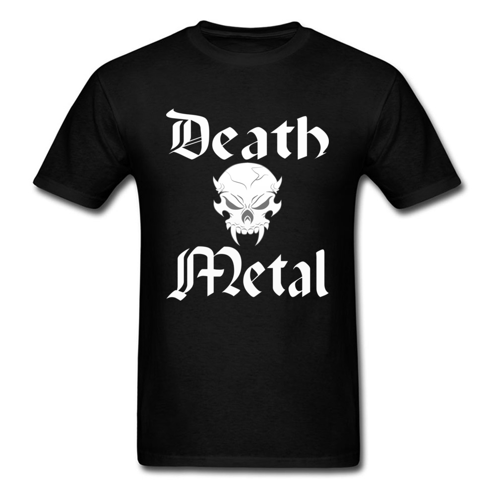 Casual Satan Death Metal Printed Tshirt Short Sleeve Ostern Day Male Tops Shirts Loose 100% Cotton Tee-Shirts Cheap Men Tshirts