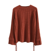 Jerseys Mujer Invierno 2018 Autumn Winter Korean Women Knitted Pullover Sweater O Neck Flare Sleeve Solid