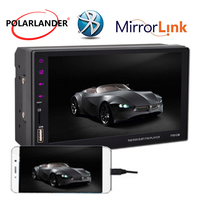 7 For Android Phone 2Din Stereo Car MP5 Player USB/FM/Aux Bluetooth With Camera Remote Control Touch Screen Radio Mirror Link