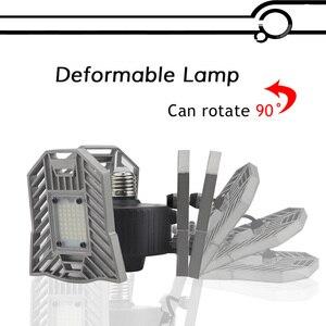 Image 4 - 60w 144 leds deformable lâmpada da garagem luz e27 led milho lâmpada de alta intensidade estacionamento armazém porão casa industrial iluminação