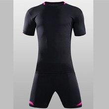 Football Kits 2017 Perfect quality Slim Short sleeve Men's Soccer Jerseys shorts survetement football Training Suit QD1621