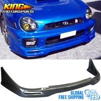 Fit For 02 03 Subaru Impreza WRX STI Front Bumper Lip Unpainted PU Global Free Shipping Worldwide