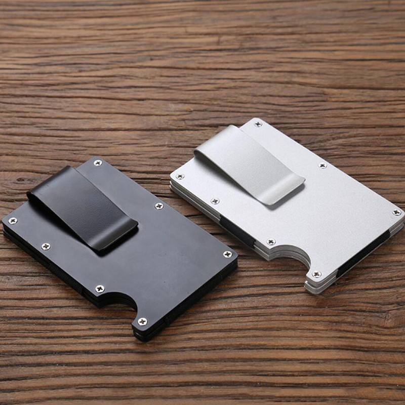 Mini Money Clamp Fashion RFID Anti-chief Credit Business Card Holder ...