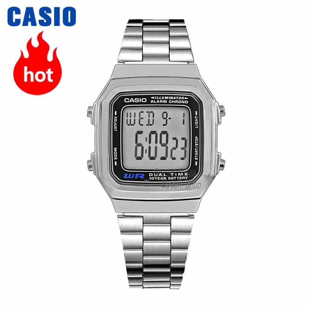 d48dc3159b40 Casio watch Analogue Men s Quartz Sports Watch 10 years of electricity  Small square watch