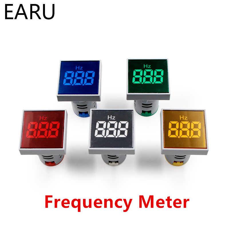 デジタル 22 ミリメートル AC 12-500 ボルトボルト 0-100A 20-75 hz 電圧計電流計 Amp 電流ヘルツ 60HZ 電圧計 LED インジケータランプパイロットライト