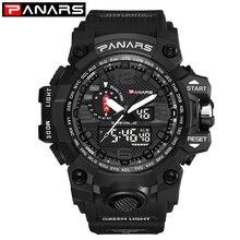 PANARS для мужчин Спорт G часы водостойкий цифровой светодиодный S мужской шок Военная Униформа электронные армейские наручные часы relogio masculino montre homme