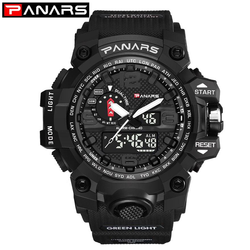 PANARS Men Sports Watch G Waterproof Digital LED S Male Shoc