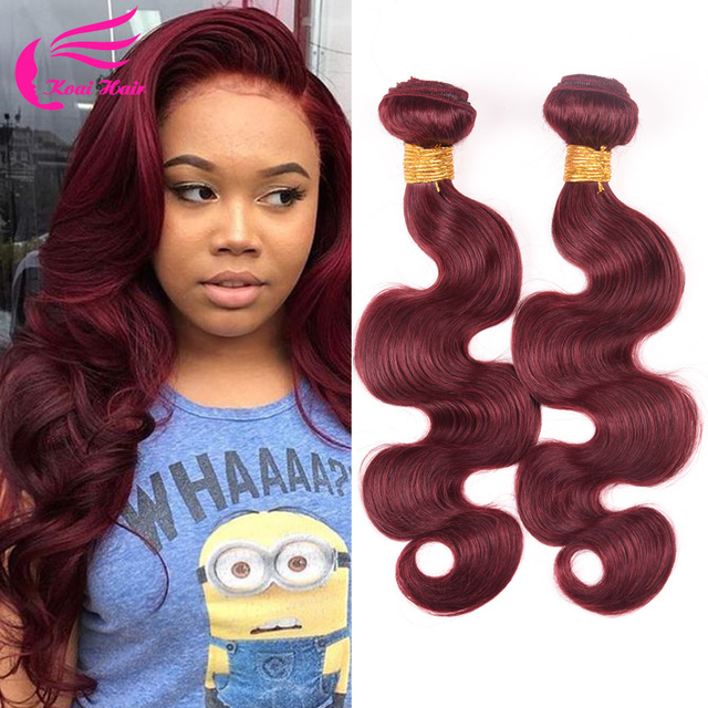 Burgundy Brazilian Body Wave 12Pcs Burgundy Brazilian Hair Weave ...