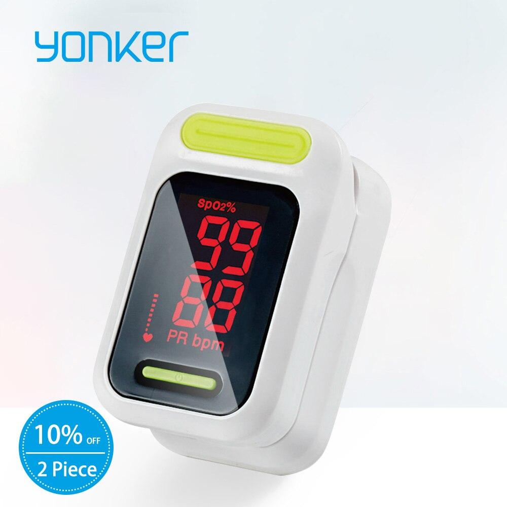 Yonker Medizinische Pulsoximeter Tragbare Finger-pulsoximeter LED Fingerspitze-oximeter Blut Sauerstoff Sättigung Monitor