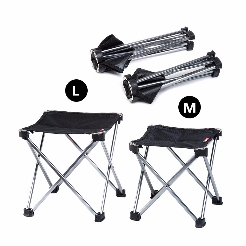 Outdoor Foldable Folding Ultra Light Fishing Picnic BBQ Garden Chair Tool Square Camping Chair 9