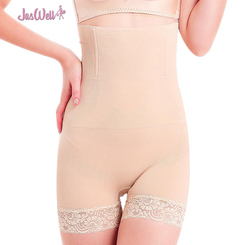 Jaswell mujeres de alta cintura shapewear tummy Bragas con faja Cuerpo  talladora inconsútil muslo adelgazamiento corsé levante las caderas Ropa  interior 0a84f7b8d274