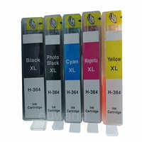 5 unids/set cartuchos de tinta for364xl para 364 364XL Photosmart 5520, 6510, 6520, 7510 B109 B110 B209 B210 C309 C310 C410 impresoras