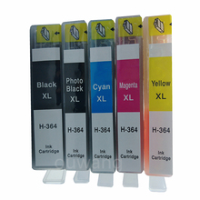 купить 5pcs/Set Ink Cartridges for364xl  for  364 364XL Photosmart 5520 6510 6520 7510 B109 B110 B209 B210 C309 C310 C410 Printers дешево