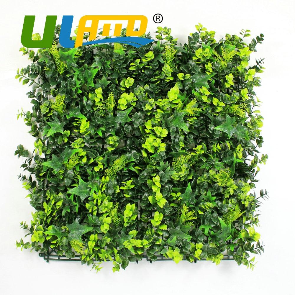 ULAND 25x25 cm pc Künstliche Buchsbaumhecke Panels Outdoor