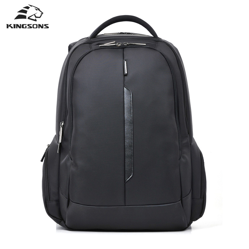 Kingsons 15 inch Black Laptop Backpacks School Bagpack High Quality Designer Men's Bags Shoulder Bag 2017 New