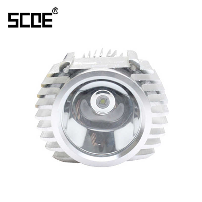 SCOE Yüksek Kaliteli Motosiklet LED Far 1 ADET H4 BA20D P15D 5 W 8-85 V Evrensel Harici Bağlantı beyaz Lens Motos Cafe Racer
