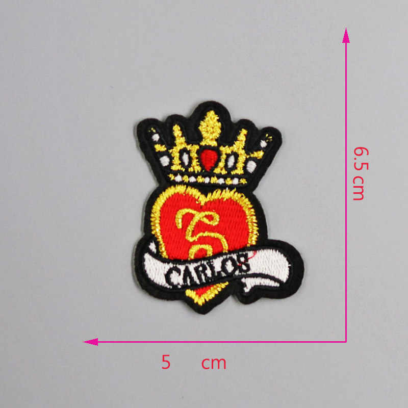 gold silver Embroidered Iron on Patches for Clothing DIY Stripes Clothes  Stickers Custom Badges Squirrel cute patch Wing
