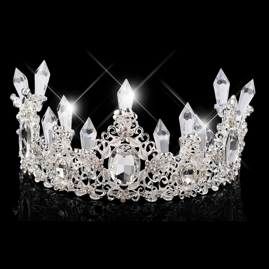 Detail Feedback Questions about Newest Ice Queen Crown Diadem Bride Flowers  Princess Headdress Silver Head Jewelry Hair Wedding Accessories Tiaras And  ... 0ae1a03a7e73
