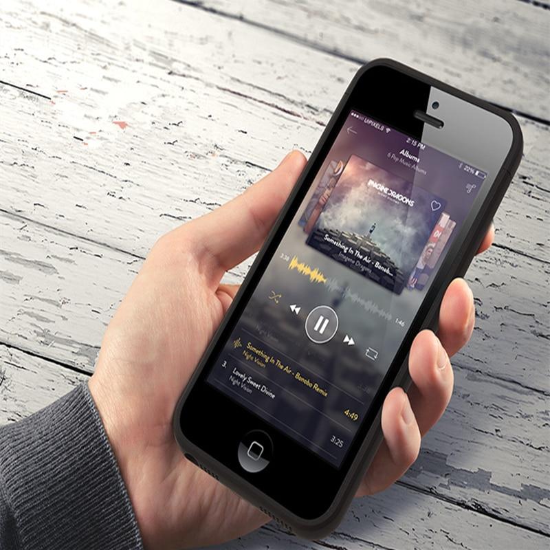 imágenes para Caso Del Cargador de Batería externa para el iphone 5 Caja de Batería para el iphone Banco de la Energía del Caso del Cargador de Reserva para el iphone SÍ 5S