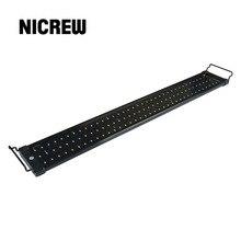 Nicrew 72-94 см аквариумный светодиодный светильник ing Fish Tank светильник с выдвижными кронштейнами 90 Белый и 18 синий светодиодный s подходит для аквариума