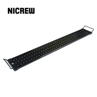 Nicrew 72 94cm Aquarium LED Lighting Fish Tank Light Lamp with Extendable Brackets 90 White and 18 Blue LEDs Fits for Aquarium