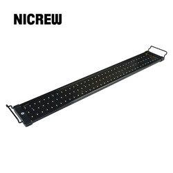Nicrew 75-150 سنتيمتر حوض السمك LED الإضاءة خزان الأسماك ضوء مصباح مع الأقواس قابلة للتمديد 90 الأبيض و 18 المصابيح الزرقاء يناسب ل حوض السمك