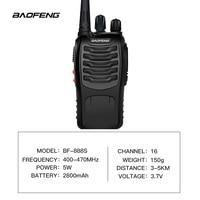 שתי דרך רדיו 2 PCS Baofeng BF-888S מכשיר קשר UHF שתי דרך CB 888s הרדיו הנייד Baofeng רדיו פנס למרחקים ארוכים עם אפרכסת (3)