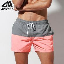 Aimpact Fast Dry Mens Board Shorts with Lining Sexy Patchwork Drawstring Surf Swim Trunks Beachwear Sport Running Hybrid Shorts