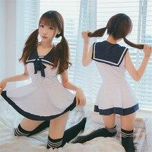 Японская/Корейская школьная форма, привлекательный милый женский/матросский костюм для девочек, комплект студенческой одежды JK, платье + трусики, один размер