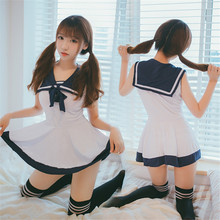 Japan/Korean School Uniforms Sexy Cute Women/Girl Sailor Suit JK Student Clothing Sets dress+Panties One size