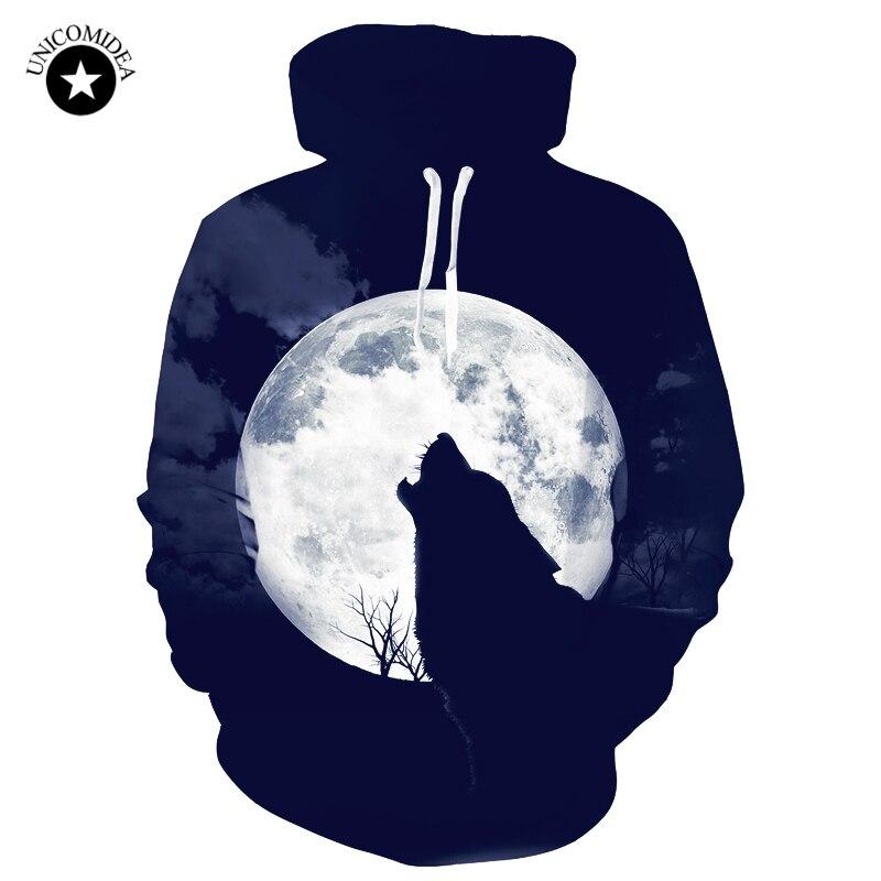3d Wolf Hoodies Men Women Black Sweatshirts Animal Printed Hoody Casual Hip Hop Hooded T ...