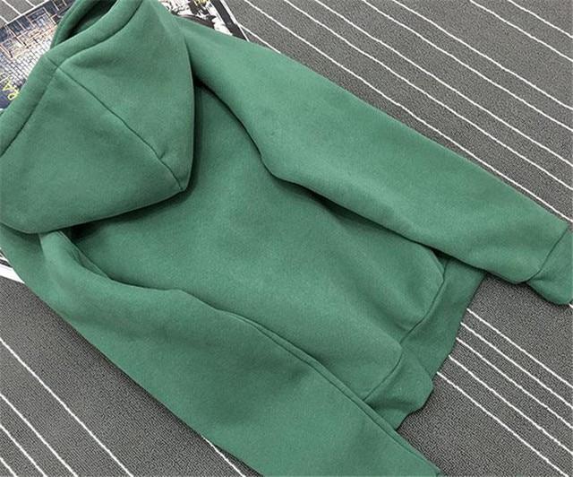 Women Fleece Thick Hooded Sweatshirt 4