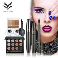 Eye Makeup Kit Of 5 PCS Professional Makeup Set Combination With 12 Colors Eyeshadow Eyebrow Powder