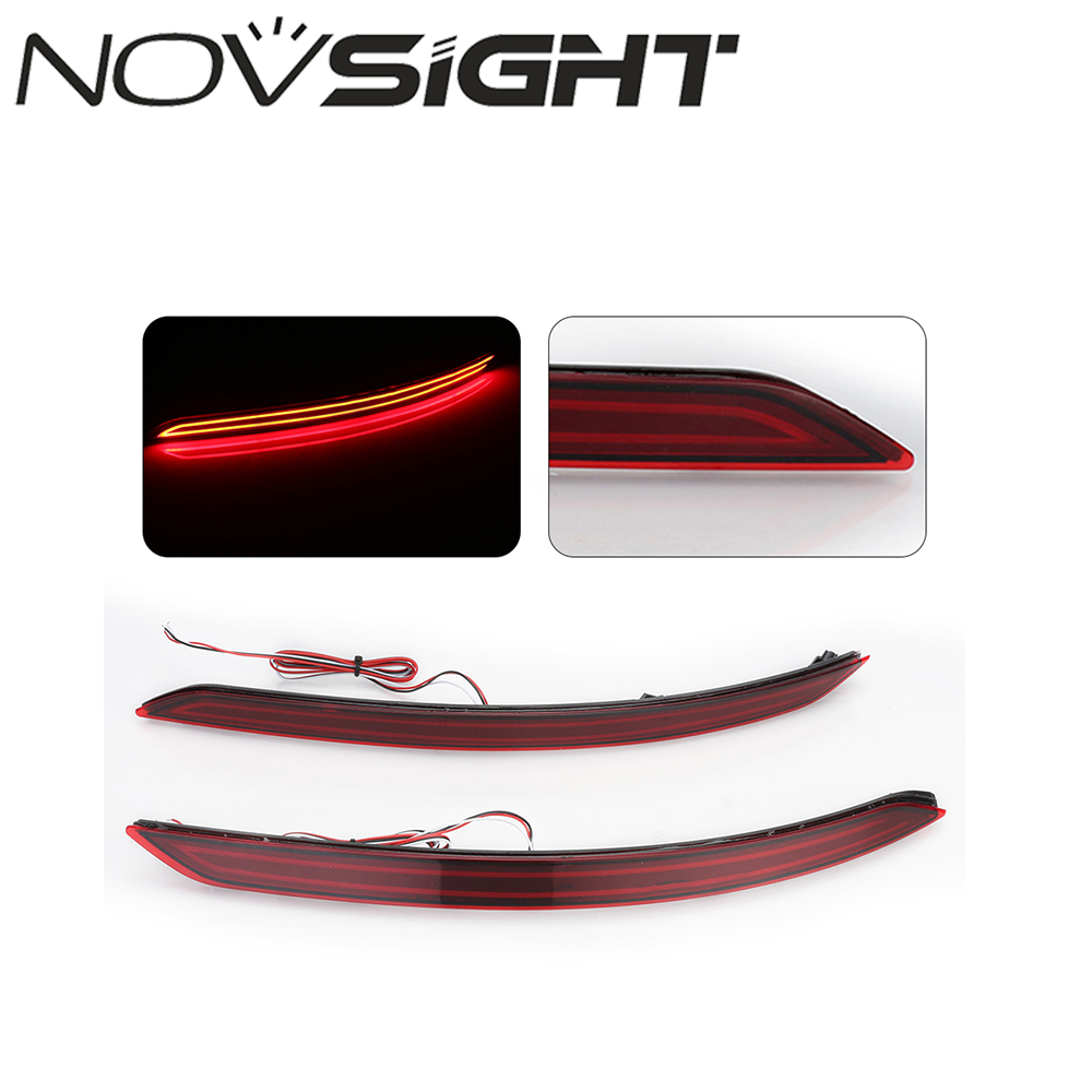 hight resolution of novsight led rear bumper reflector red brake stop lights waring light for hyundai elantra 2017 2018 d20 in car light assembly from automobiles motorcycles