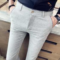 Мужские деловые брюки, модные облегающие брюки большого размера 29-40, 2020