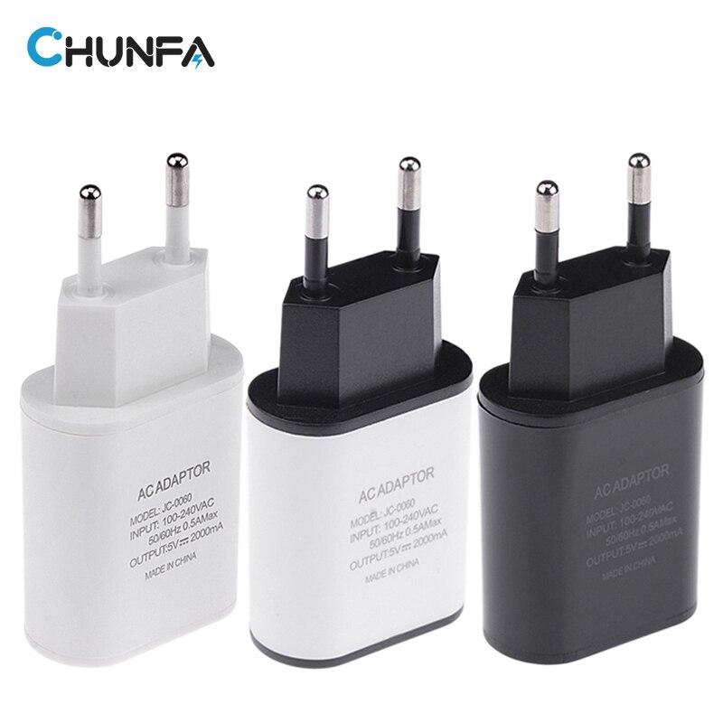 CHUNFA New EU Plug USB Charger 2A Europe Universal