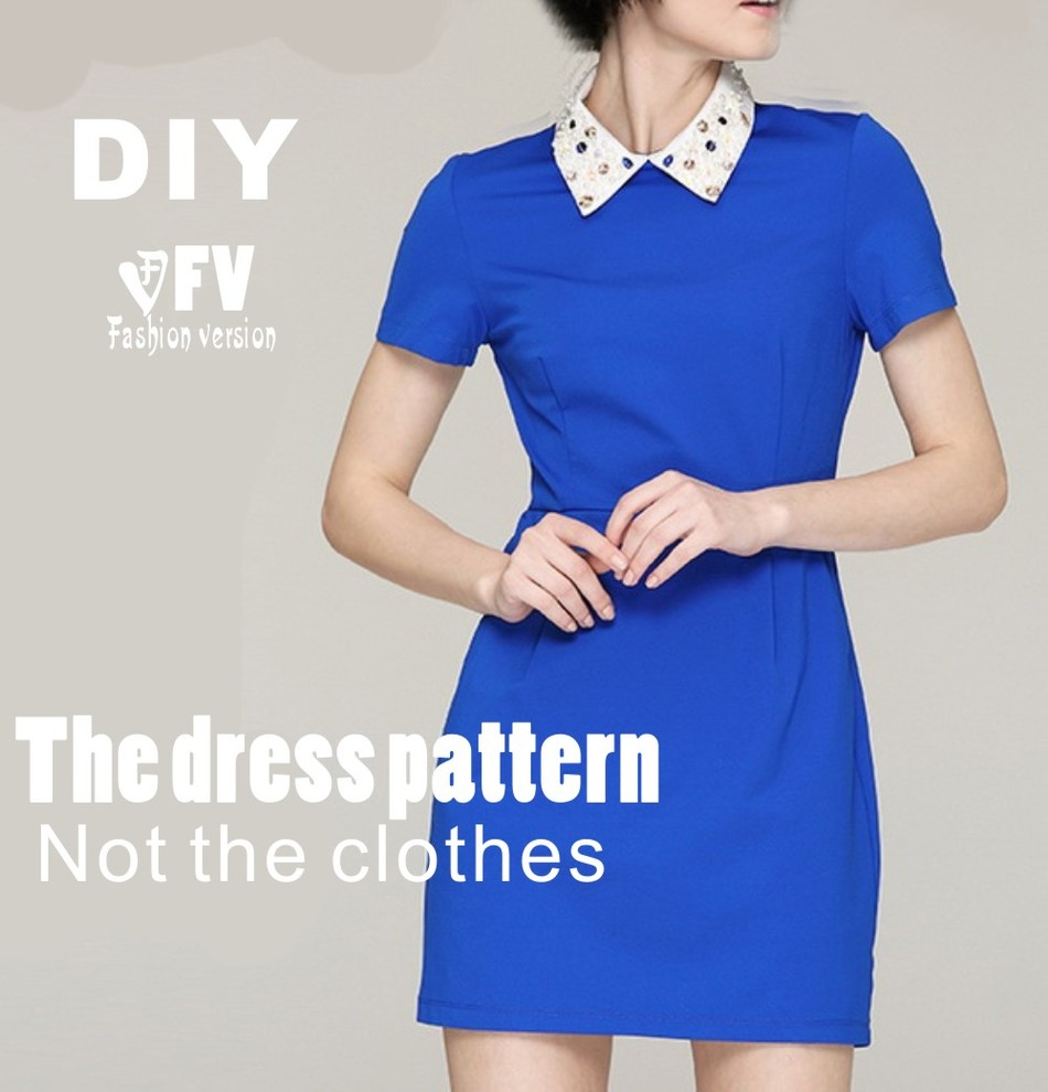 Clothing DIY The Dress Dresses Sewing Pattern Cutting Drawing Women's Dress Sewing Template BLQ-99