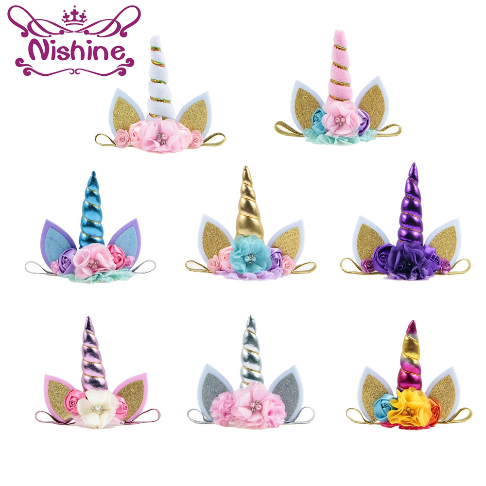 Kids' Clothes, Shoes & Accessories Girls' Accessories Hot Reversible Sequins Headband Unicorn Horn Decor Hairband For Girls Kids Party