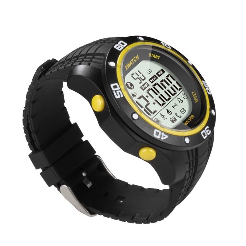 imágenes para 1xwatch Impermeable Noche Visible 5S Podómetro Sleep Monitor de Deporte Bluetooth Reloj Inteligente para iPhone 6 s 7 para Samsung Huawei HTC