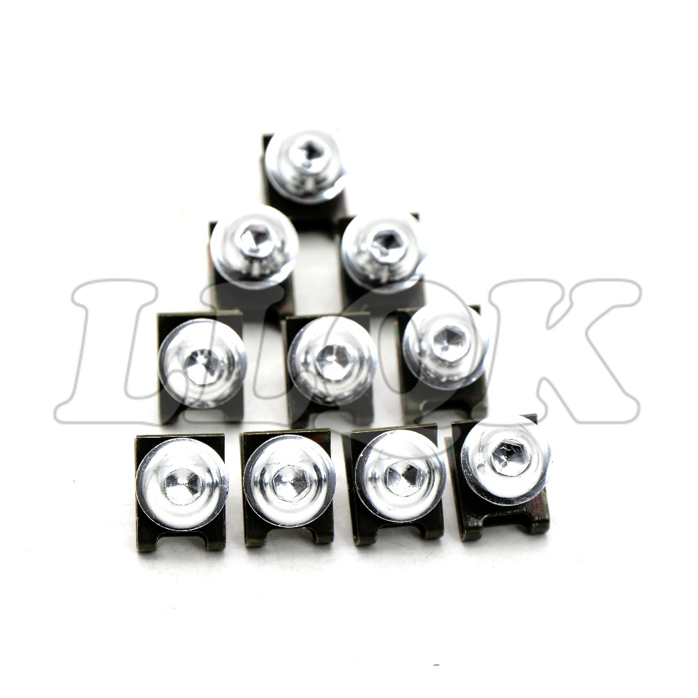 10pcs 6mm CNC Motorcycle Fairing body work Bolts Screws For yamaha tmax 500 530 tmax500 tmax530 T-MAX500 T-MAX530 honda cb400