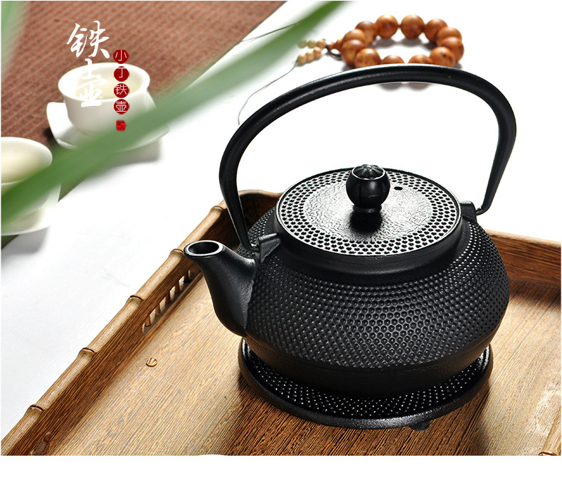 Japanese Cast Iron Teapot 0.3L 0.6L 0.7L Iron Kettle To Boil Water Tea Tool Metal Net Filter Teapot Tea Set Free Shipping