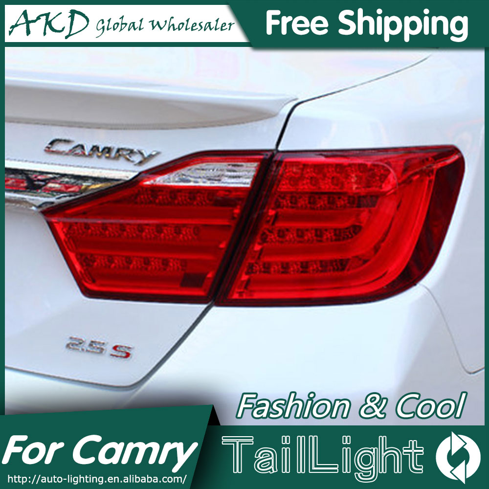 AKD Car Styling for Toyota Camry Tail Lights 2012-2014 Camry V50 LED Tail Light Aurion Rear Lamp DRL+Brake+Park+Signal