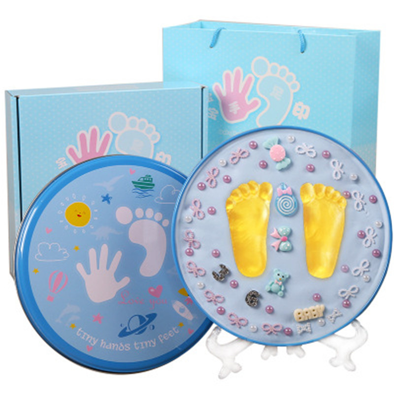 Baby Hand Footprint Makers Kid 3D Soft Clay Inkless Handprint For Newborn Babies Birthday Souvenir Infant Growth Record DIY Gift