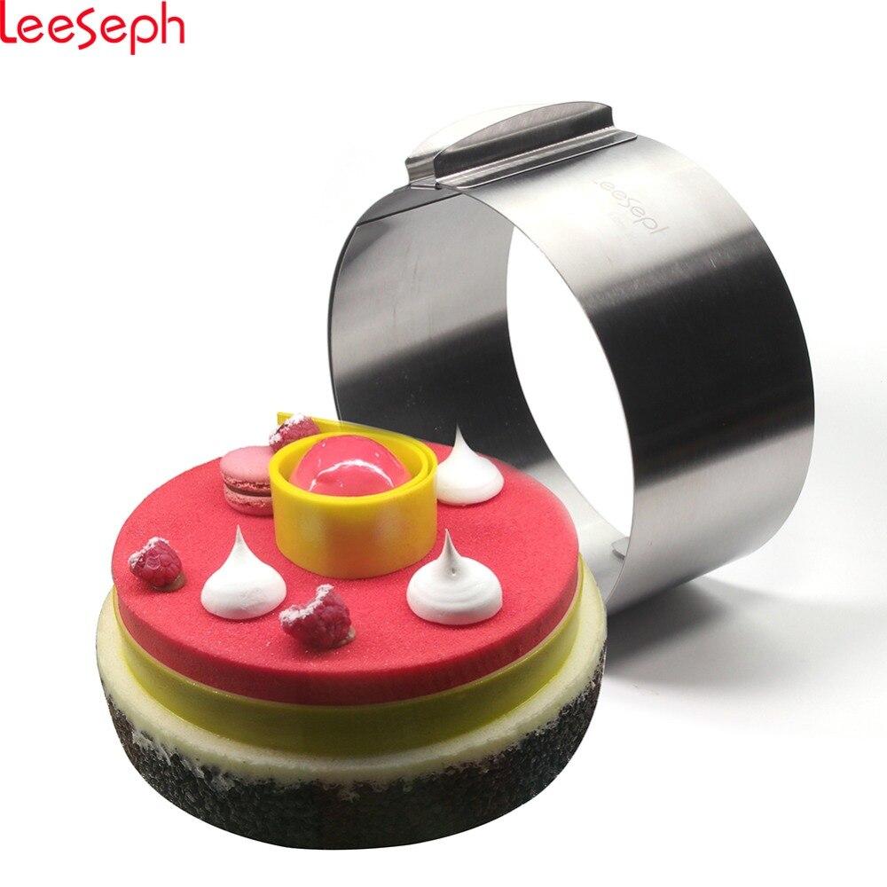 6 zu 12 zoll Einstellbare Mousse Ring Mould, Profis Kuchen form mit kalibrierung, backen werkzeuge für kuchen
