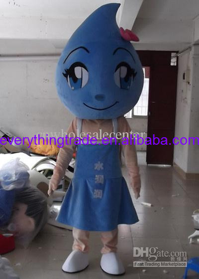 Blue Water drop mascot costumes Fancy dress Cartoon Costumes Adult size