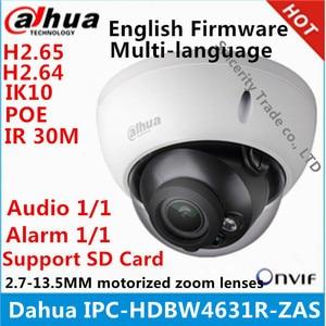 Dahua IPC-HDBW4631R-ZAS 2.7~13.5mm varifocal motorized lens IP67 IK10 IR50M built-in SD card slot audio interface 6MP ip camera(China)